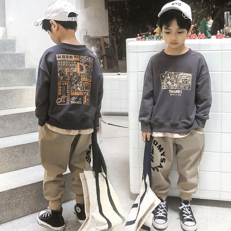 儿童装男童春装套装2021新款单件/两件套男孩春秋季帅洋气韩版潮