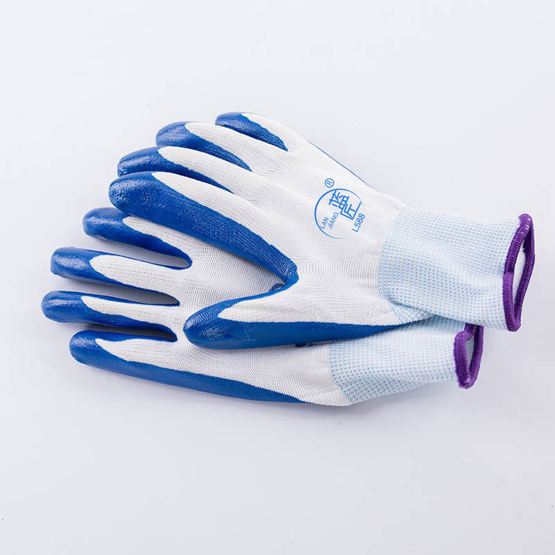 12双带胶橡胶工地胶手套加厚胶皮工作劳保手套耐磨