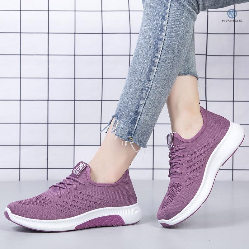 タオバオ仕入れ代行-ibuy99|运动鞋|运动薄款百搭妈妈鞋防滑韩版网红透气单鞋平底女布鞋新款2021爆款