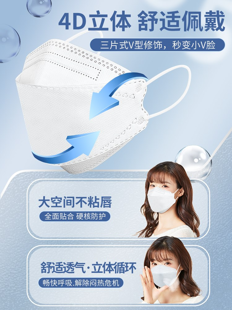 N95 mask 3D goddess ventilation fashion black and white protection willow kn95 dust
