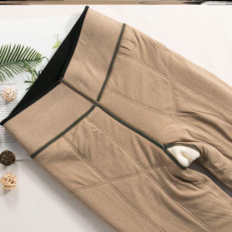 一条过冬!东北羊绒棉裤女冬季抗寒加厚加绒打底裤超厚特厚一体裤