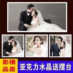 相框挂墙水晶板画背景墙装饰欧式制定放大照片婚纱儿童全家福新款