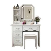 卧室柜子储物柜带梳妆台家居酒店农村立门厅免漆环保实用单个
