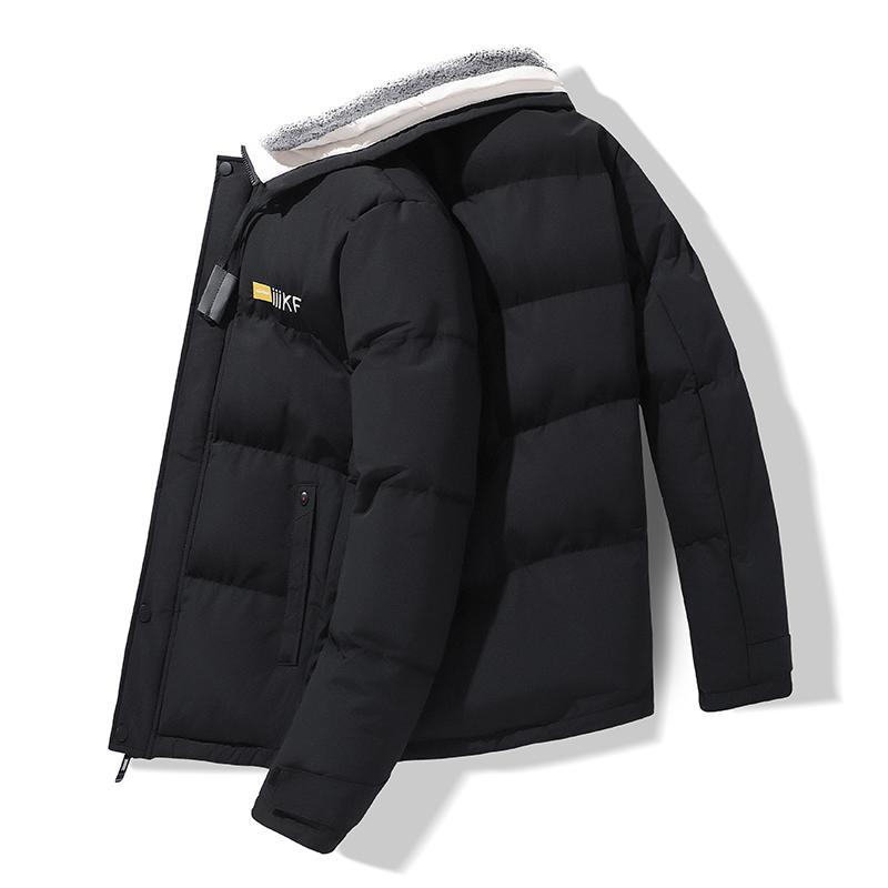 棉衣男士外套冬季韩版潮流加厚棉袄时尚毛领工�缱凹锌四杏鹑廾薹�男