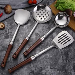 304不锈钢锅铲家用漏勺铲子厨房炒菜勺子汤勺厨具套装铲子勺全套