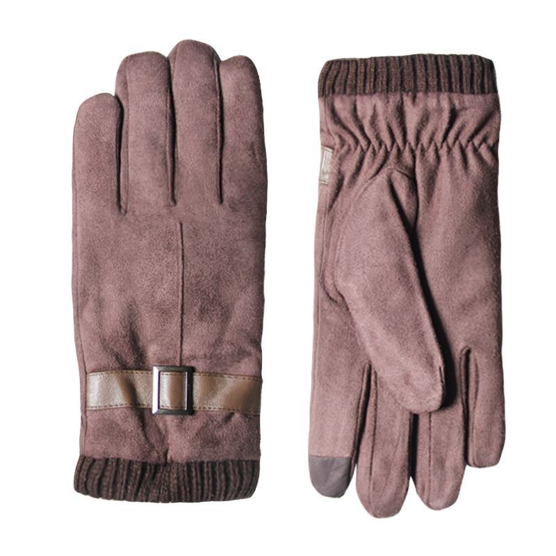Gloves Winter male cycling windproof driving durable touch screen driver camel winter yellow motorcycle rider