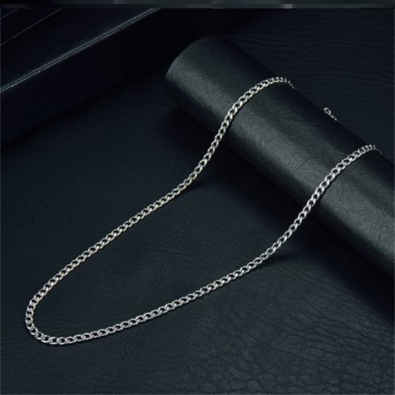 项链女锁骨链粗钛钢简约小众搭配毛衣衣服日韩长款设计感不易掉色
