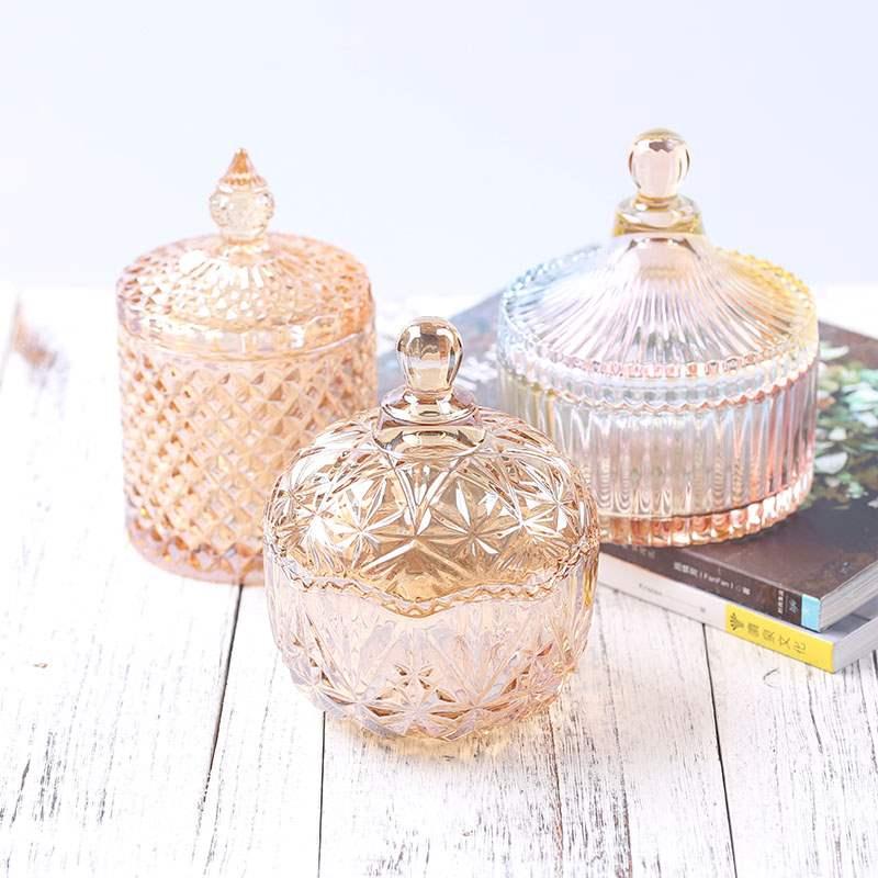 西窗烛 琉璃色系蜡烛杯diy香薰蜡烛玻璃杯琥珀色蜡烛罐炫彩蒙古杯