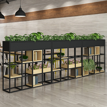 北欧风铁艺花架置物架多层落地式客厅室内餐厅办公室隔断花架子