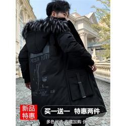 男士棉衣冬季2020年新款羽绒棉服韩版棉袄中长款冬装加绒加厚外套