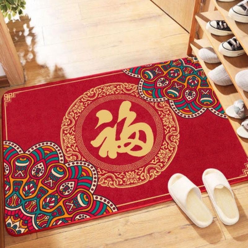 出入平安门垫地毯入户门卫生间进门客厅家用脚垫防滑结婚门垫喜庆