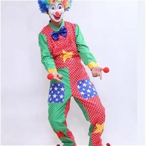 Clown Costume saints day Funny adult mens and womens costume suit h Carnival Ball Costume x magic show