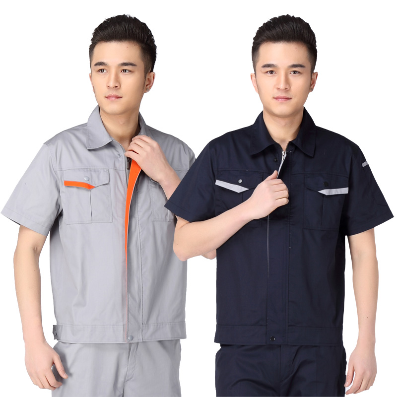 Genuine summer labor protection suit electrical clothing hotel engineering department work uniform short sleeve auto repair beauty