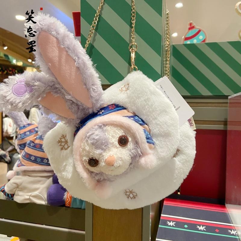 上海迪士尼圣诞节星黛露斜挎包手机包零钱包玩偶公仔包包单肩包女