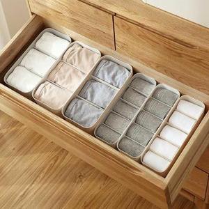 家用可叠加内衣收纳盒多格袜子整理盒家用塑料分格装袜子盒内裤盒