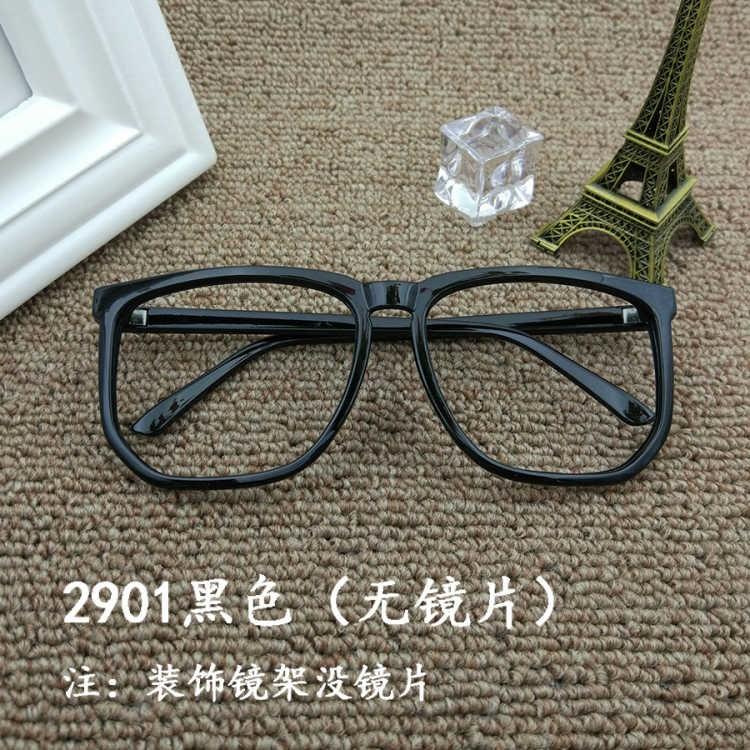 圆金属无框装饰男框架眼镜复古镜款眼镜女士镜片男女平光黑色时尚