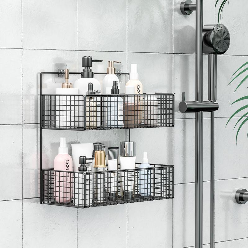 浴室置物架卫生间洗漱台洗手间墙上三角收纳洗澡厕所免打孔壁挂式