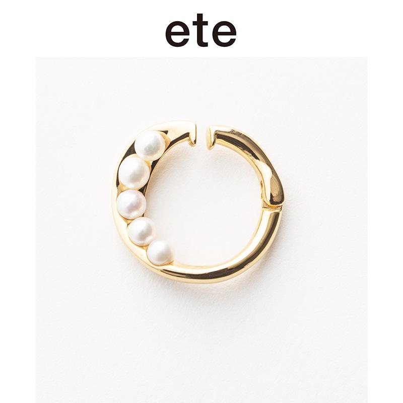 ETE淡水珍珠耳夹式耳环 SV925日本小众设计轻奢高级感时尚耳饰女