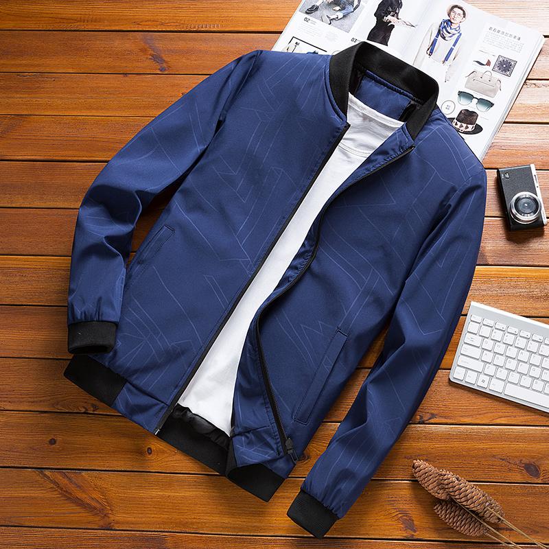 2021新款爸爸外套中年男装夹克衫中老年商务休闲男士上衣春秋薄款