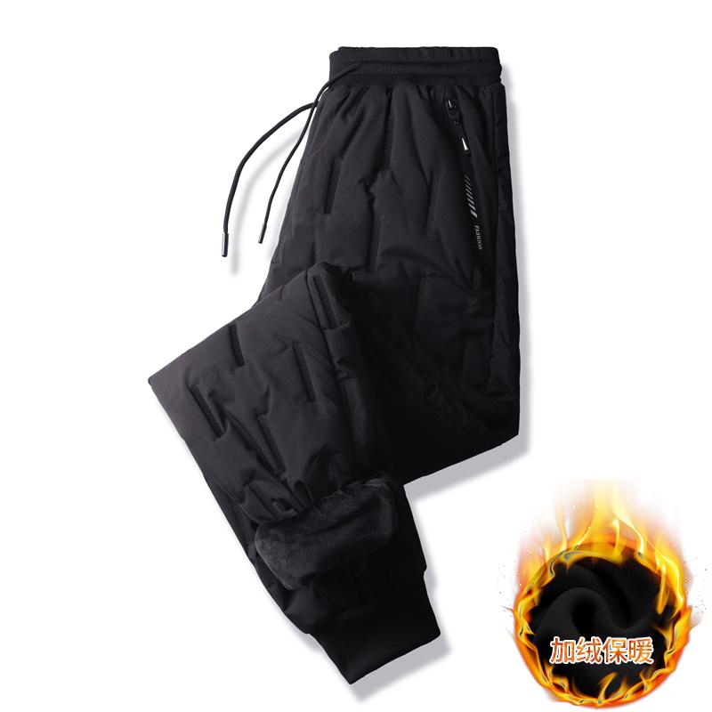 男士羽绒棉裤男外穿冬季保暖加厚户外东北棉裤裤男青年男裤