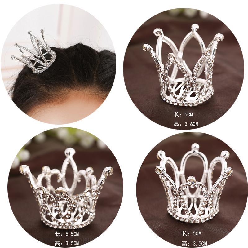 时尚新款儿童满贯 可爱公主唯美王冠 宝宝头饰学生演出头发饰品
