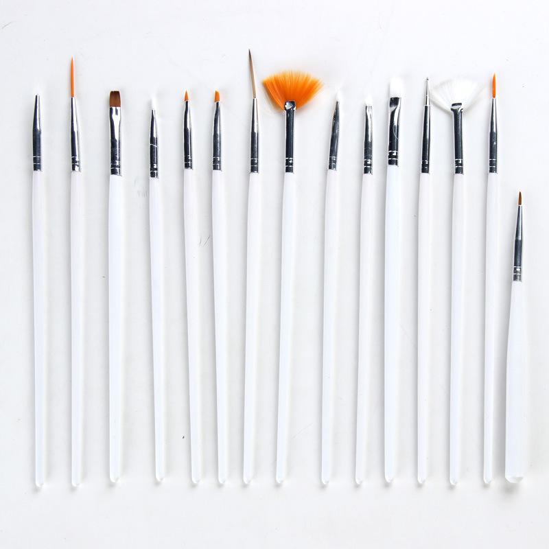 绯惑 手工DIY BJD DD vSD 娃娃改装改妆用 15款笔套装 彩绘画画。