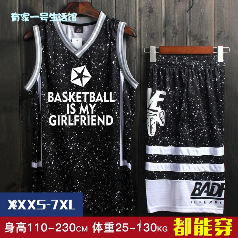[mens top short sleeve vest couple black hip hop tight basketball suit mens street trend