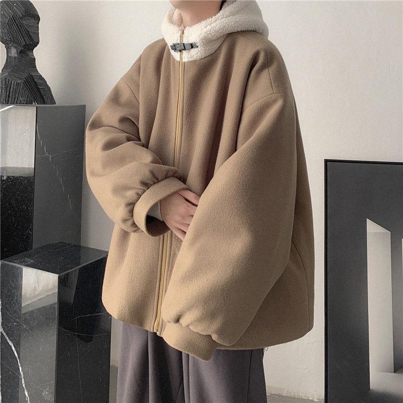 男士羊羔毛棉服休闲外套保暖棉衣新款外套