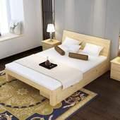 实木床板床松木架子床单双人床三尺四尺半五尺六尺松木