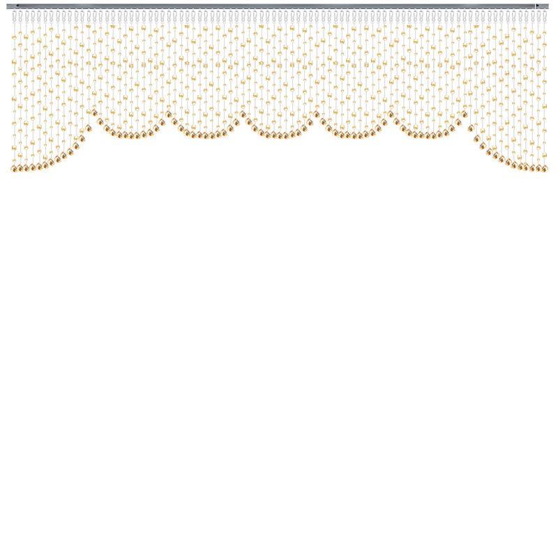玻璃珠帘欧式   水晶珠帘玄关客厅餐厅 隔断帘帷幔型珠窗帘装饰帘