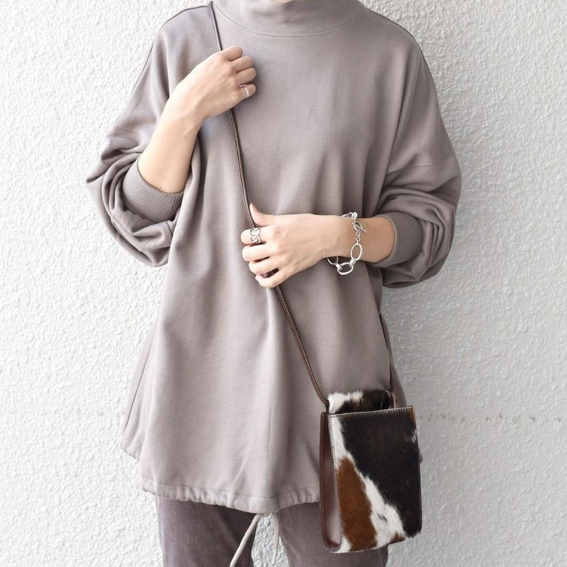 Shirs FOP wome n womens half high collar casual Sweatshirt elegant song day w direct mail reservation