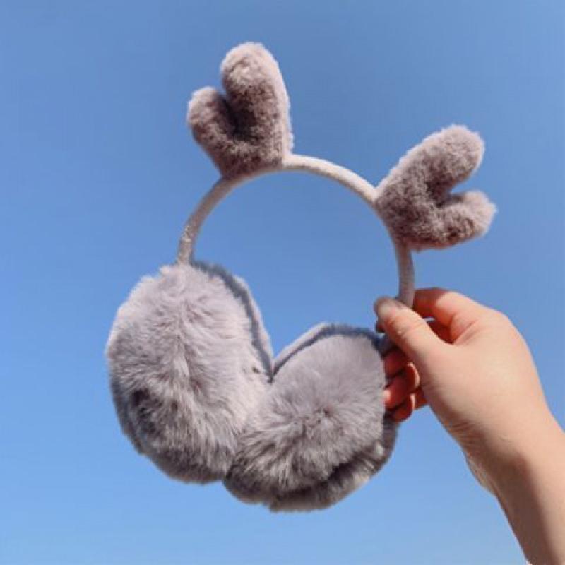 网红鹿角耳罩耳套保暖女耳暖耳捂子韩版可爱耳包冬季成人护耳朵罩