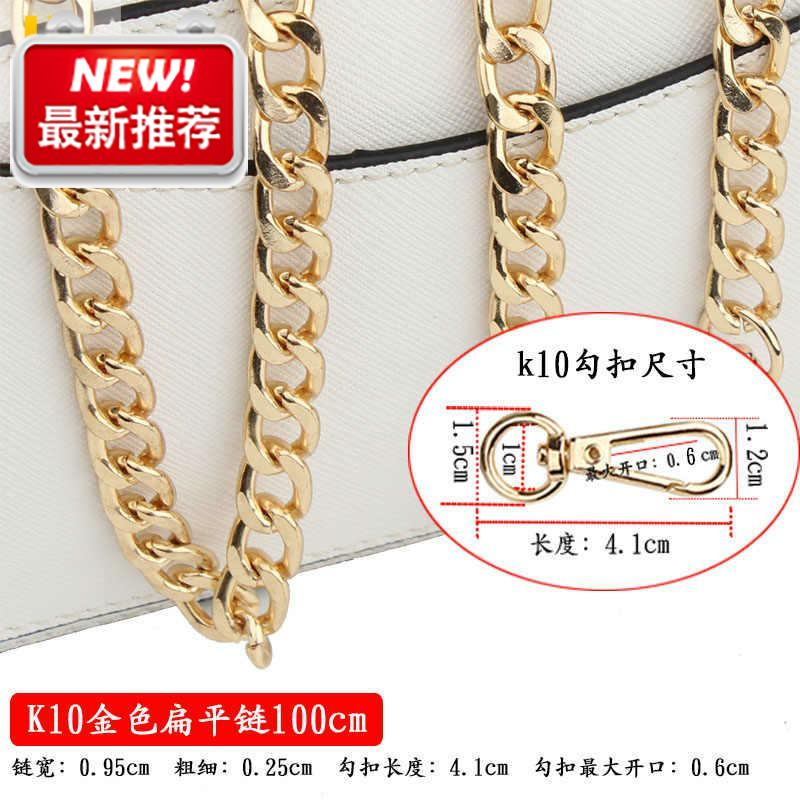 Chain belt bag chain womens accessories flat chain high Z grade one shoulder summer gold jelly iron chain popular bag belt