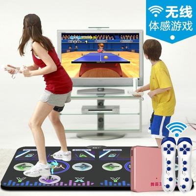 家庭室内连接电视的跳舞毯跑步家用儿童劲舞团舞蹈折叠扭腰双人毯