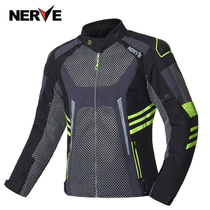 NERVE摩托车男女夏季网眼骑行服透气机车防摔耐磨骑士夹克上衣
