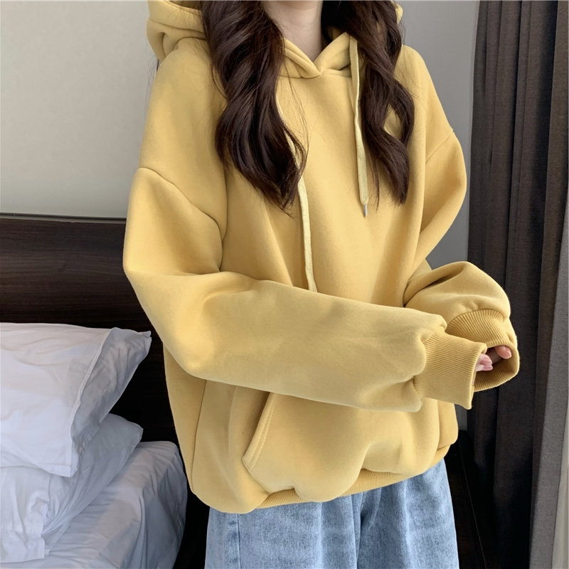 2021 new European early autumn loose hooded sweater top womens spring and autumn design sense of niche fashion