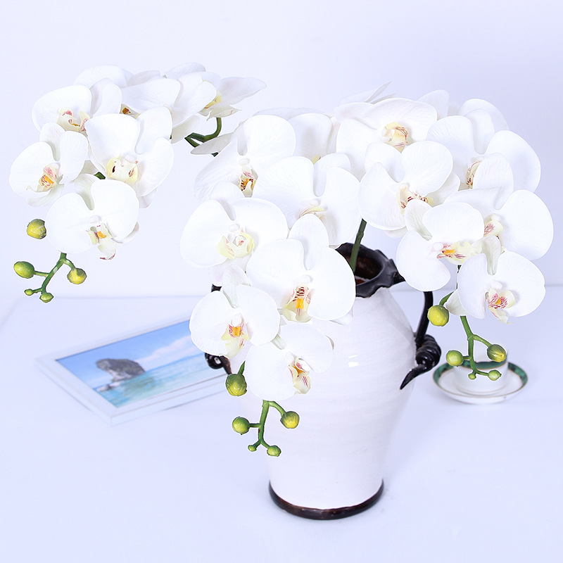Artificial film handle 8 head 3 Phalaenopsis artificial flower home decoration orchid