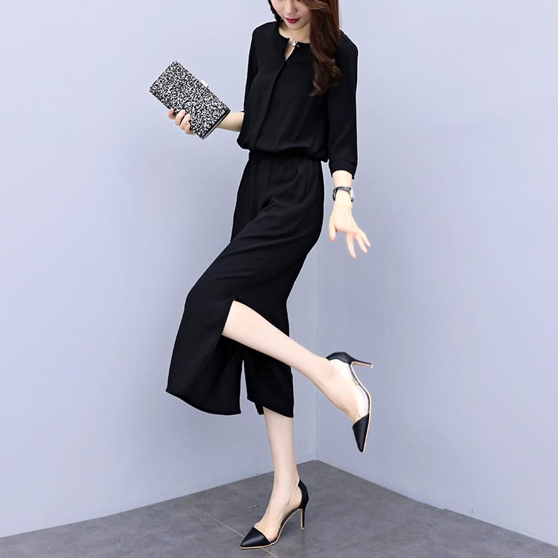 欧洲站赫本连衣裙2021夏季新款女装韩版黑色开叉气质收腰显瘦裙女