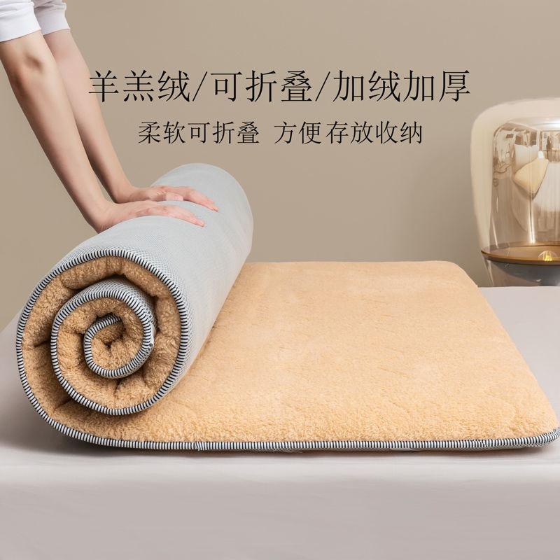 加厚保暖羊羔绒床垫家用睡垫床褥垫榻榻米铺床褥子海绵垫子床垫子