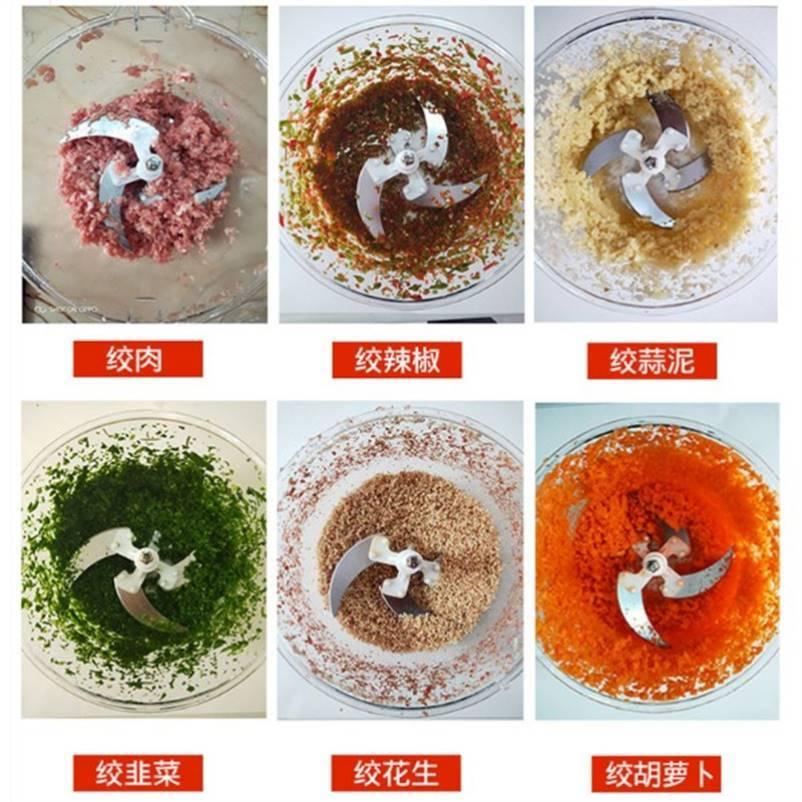 打碎机容量大切菜器果蔬肉末小家电白菜白钢绞肉机家用电动姜蒜。