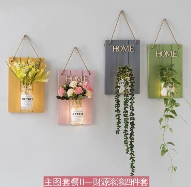 Simulation flower wall beauty salon dress decoration creative goods Cafe home decoration box office yoga fitness