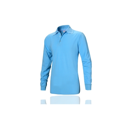 4S sleeve customized exhibition wear resistant polyester cotton medium length polo shirt catering fashion womens long sleeve party