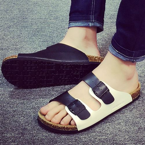 2021 mens slippers 2021 new summer fashion outdoor cork slippers