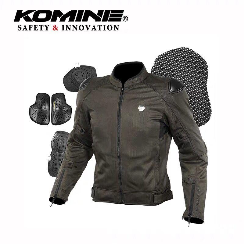 KOMINE夏季高密度眼3D骑行夹克摩托车铝合金防护赛车服JK-147