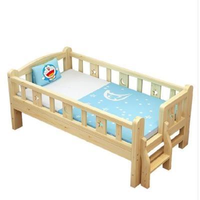 阶梯卧床男童防护栏木头床女儿儿童床护栏挡板简约公主床家具婴儿