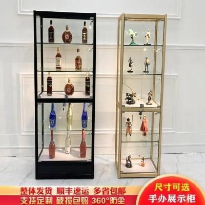 玻璃手办柜化妆品展示柜饰品柜橱窗礼品透明饰品店珠宝柜台美容院