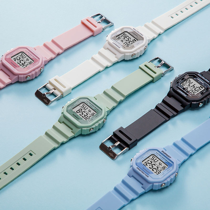 Chinese temperament sports waterproof electronic watch junior high school students Korean childrens watch small square watch womens fashion