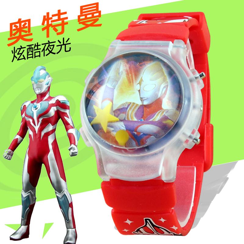 China man electronic watch primary school student Ultraman childrens watch mens luminous cartoon moving watch childrens night