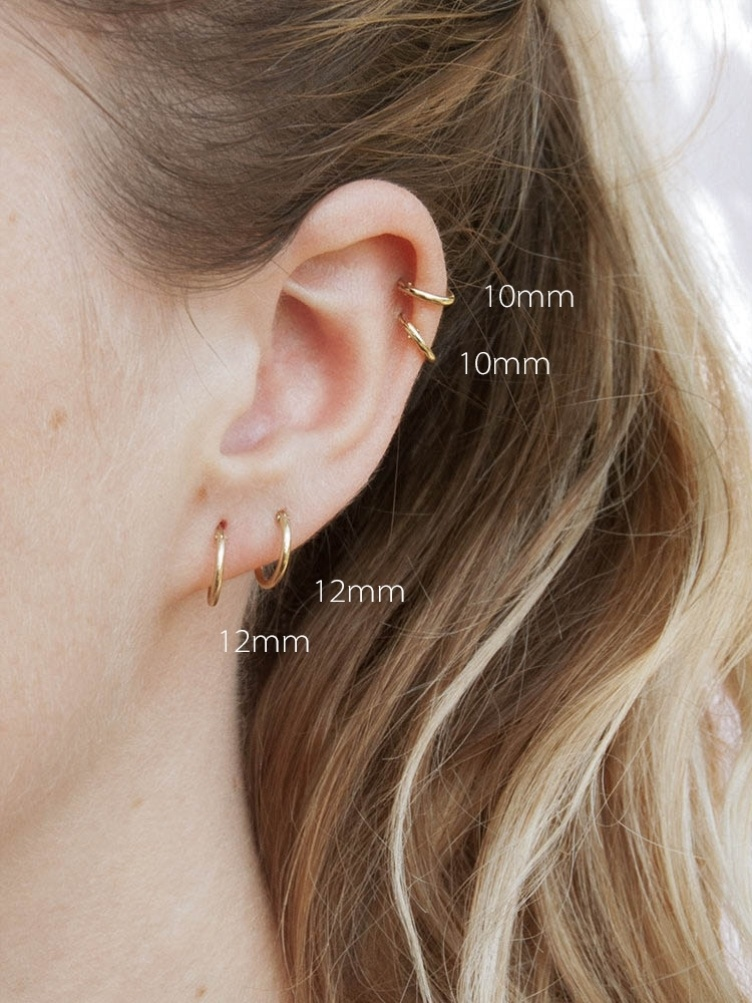 Chain link sense multi ear hole aural temperament design ear bone connected ear hole chain earring hanging ear simple hanging ear double