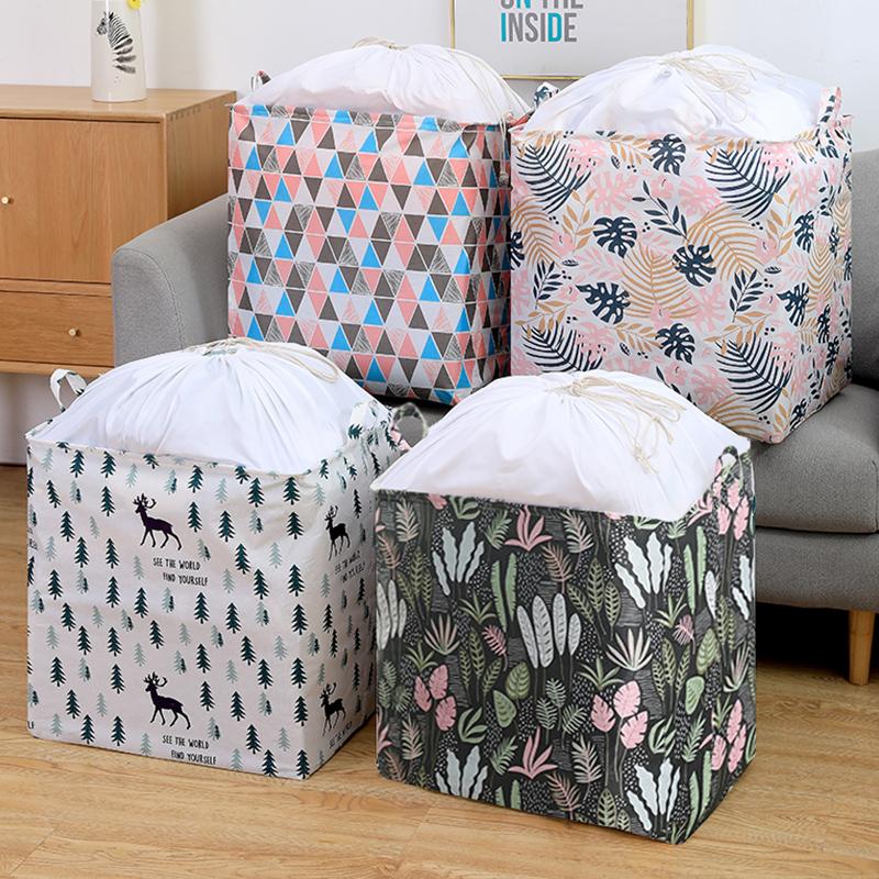布艺衣服收纳箱大容量收纳筐衣柜被子收纳袋防尘防水储物打包袋子